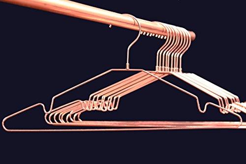 Premium Qualität - Kleiderbügel Kupfer / Rose-Gold, glänzend, 10er-Set, drehbarer Haken. ORIGINAL Buy Emotions