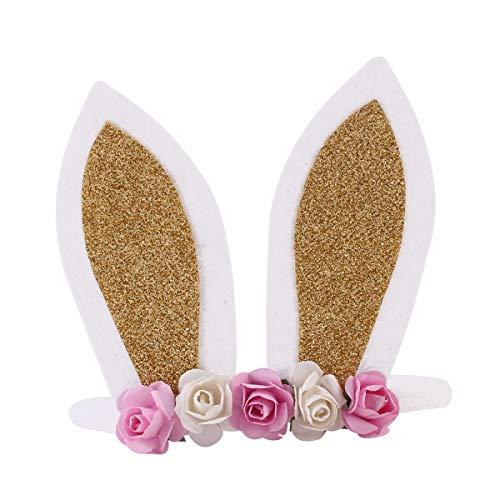 (Yinroom Baby Hasenohren Blumen Stirnband Cartoon Hase Ohr Nylon Stirnband Kleinkinder blumigen Kranz Girlande , Häschenohren Hairbands Cute Rabbit Ears Stirnband für Party Dekoration Dress Up)