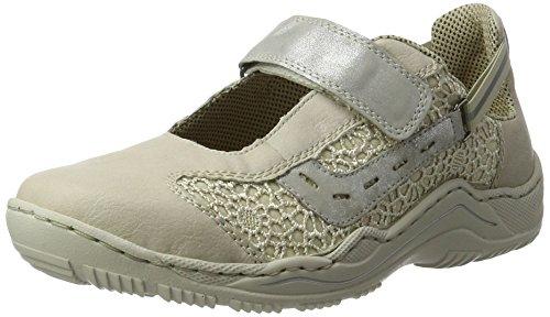 Rieker L0578, Sneakers Basses Femme Blanc (Offwhite/beige/silber / 80)