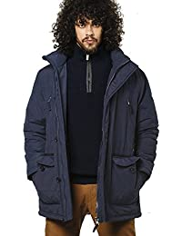 VEDONEIRE Mens Padded Casual Coat (3046 NAVY) blue cotton winter coat