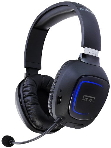 Creative Sound Blaster Tactic3D Omega Wireless THX Headset für PC, Xbox 360, PS3 und Mac - 3