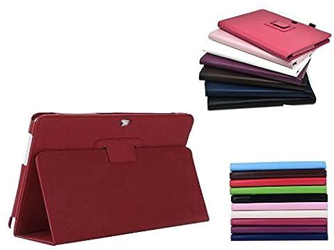 Hochwertige Leder-Flip-Case-Schutzhülle für Microsoft Surface RT/2, Hot Pink