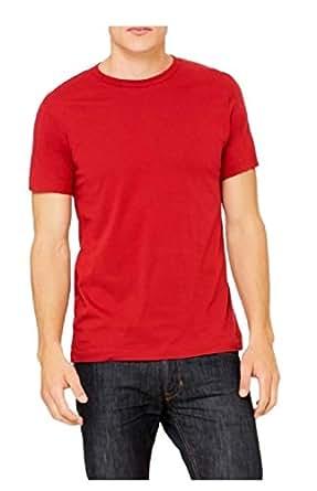 Tryst Men's Cotton Tshirt(TRY-3-M_Red_Medium)