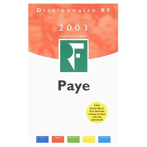 Paye 2003
