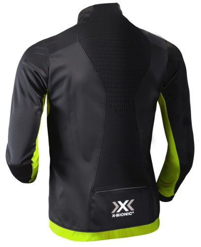 X-Bionic Erwachsene Funktionsbekleidung Running Winter Spherewind AE Man Jacket Black/Acid Green