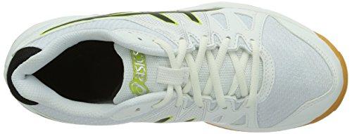 Asics Gel-Upcourt Gs, Chaussures de sports en salle mixte enfant Blanc (White/Black/Silver 0190)