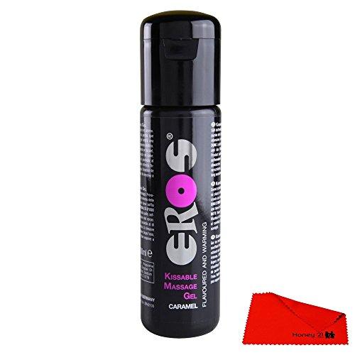 HER42103 Eros Kissable Massage Gel CARAMEL 100 ml Flavoured and Warming Massage Oils Massageöle