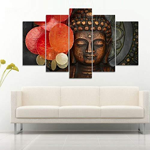 Xutongrui cornici moderne per quadri su tela cuadros 5 pannello animal buddha paesaggio decorazione domestica stampa artistica mo