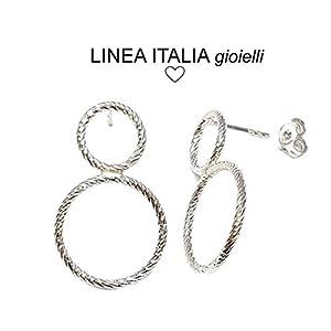 Orecchini donna piccoli in Argento 925 - Linea Italia gioielli Made in Italy