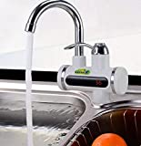 Riscaldatore istantaneo acqua calda miscelatore, senza boiler rubinetto elettrico riscaldatore istantaneo per cucina bagno scaldabagno