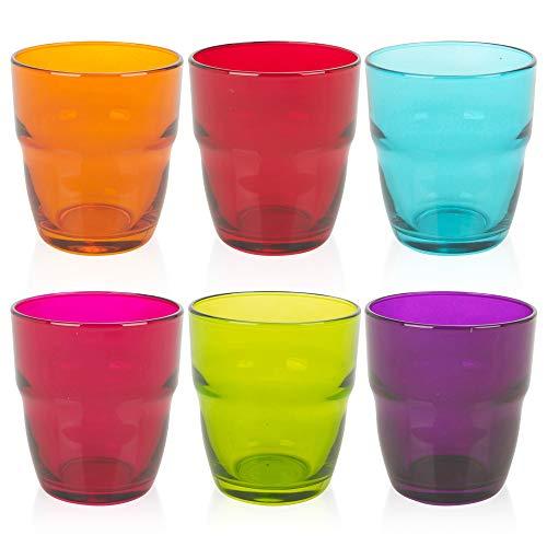 6 x 30,5 ml Modulo Bormioli Rocco, set di bicchieri per acqua, succo di frutta, whisky e cocktail