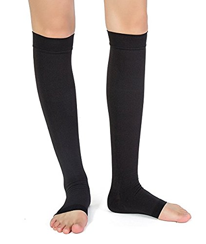 PEDIMEND-Knee-High-Firm-Graduated-Compression-Socks-For-Men-Women-Ideal-For-Maternity-Pregnancy-Flight-Travel-Increased-Blood-Circulation-Reduce-Tirednes-Aching-Legs