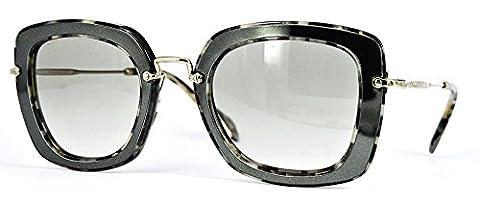 Miu Miu MU07OS DHE-3H2 Silver / Print Noir Square Sunglasses Lens Category 1 Si