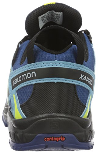 Salomon Xa Pro 3d, Scarpe da Trail Running Unisex – Bambini Blu (Midnight Blue/Blue Gum/Corona Yello)