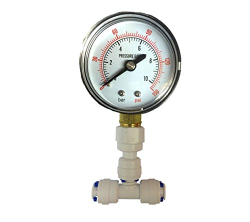 The Water Filter Men Pressure Gauge For Aquarium Ro Reverse Osmosis System With 1/4 by The Water Filter Men -