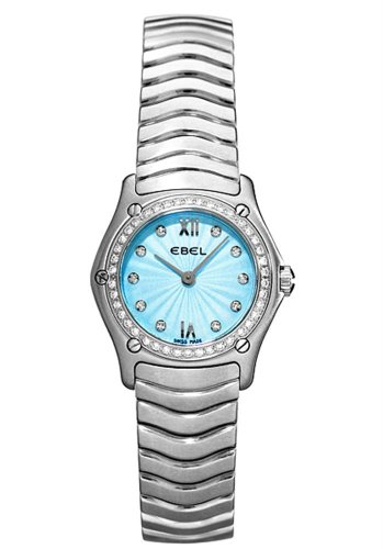 Ebel Women'S Eb9157F14-24725 Classic Wave Blue Dial Watch