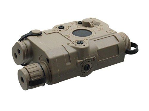 Battleaxe Softair / Airsoft Batteriebox, im PEQ15 Style, mit Weavermontage - TAN