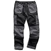 """Army And Workwear Exact Colour: Grey/Black - with Contrast Stitch Detail 