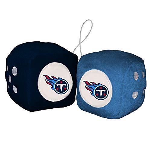 Fremont Die NFL Unisex Fuzzy Dice, Unisex, Fuzzy Dice, blau, Einheitsgröße (Blau Fuzzy Für Auto Dice)