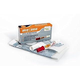 AlcoSense UK Single Use Breathalyser. Breathalyzer Works with all UK, Scottish and Irish Limits
