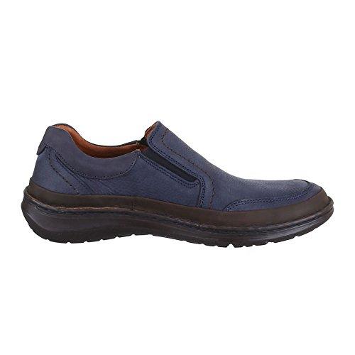 Herren Schuhe, 10431, HALBSCHUHE LEDER SLIPPER FREIZEITSCHUHE Blau