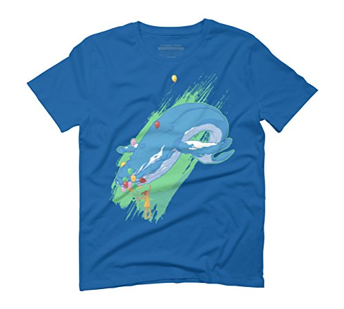 Imagination One Men's Graphic T-Shirt - Design By Humans Royal Blue