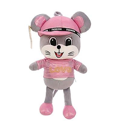 WHKJ Juguete de Peluche Creativo muñeca de ratoncito Colorido muñeca de Mascota Suave muñeca de Comodidad Creativa Regalo de cumpleaños de San Valentín 40 cm por WHKJ