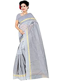 DIYA Fashion Women's Cotton Art Silk Saree With Blouse Piece(ORANGE
