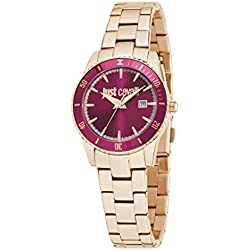 Just Cavalli Just In Time Women's Quartz Watch with Pink Dial Analogue Display and Pink Stainless Steel Strap R7253202503