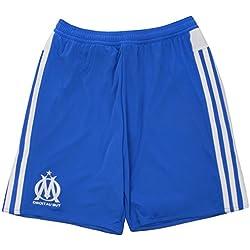 adidas OM 3 SHO - Pantalón corto para hombre, color azul / blanco, talla XL