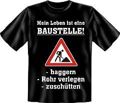 Idea Regalo - Birra Mein Leben ist Eine Baustelle-Fun t shirt, taglie S, M, L, XL, XXL multicolore multicolore s