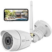Outdoor Security Camera, Wansview 1080P WiFi Home Surveillance Waterproof Camera with Night Vision, Motion Detection, Remote Access, Works with Alexa-W4