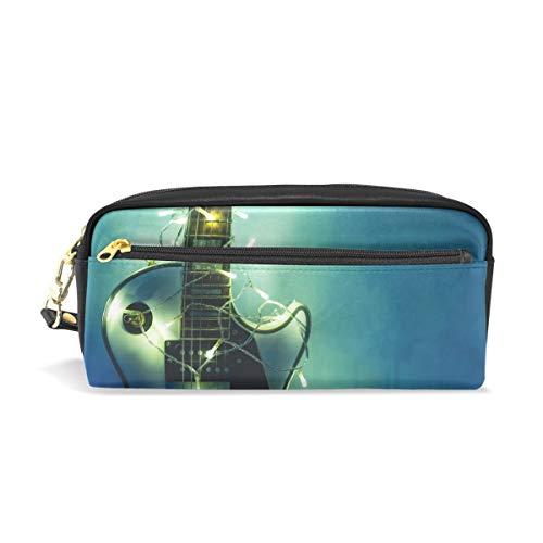 Federmäppchen mit großer Kapazität, leichte und elektrische Gitarre, Stifttasche mit Reißverschluss
