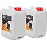 10 Litros Bioetanol 96% origen Vegetal para chimeneas - 2 Garrafas de 5l