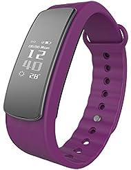 Lintelek Smart Bracelet Connecté Fitness Montre sport Tracker d'Activité Santé Montre Connectée Sport Etanche IP67 Bluetooth 4.0, Suivi du Sommeil Podomètre Alertes Appel SMS, Compatible Avez Smartphone Android iPhone