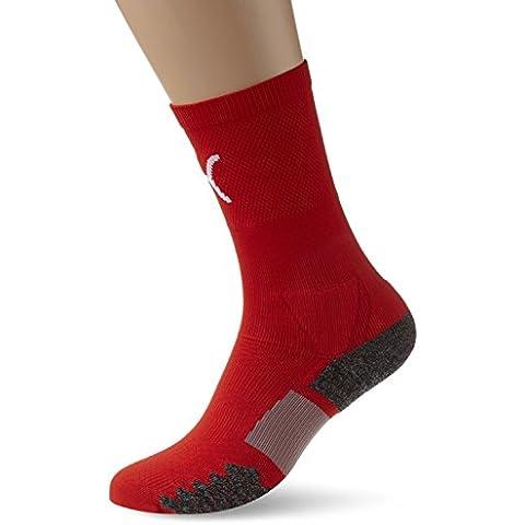 PUMA para hombre de fútbol match Crew socks, primavera/verano, hombre, color Rojo - Red-White, tamaño
