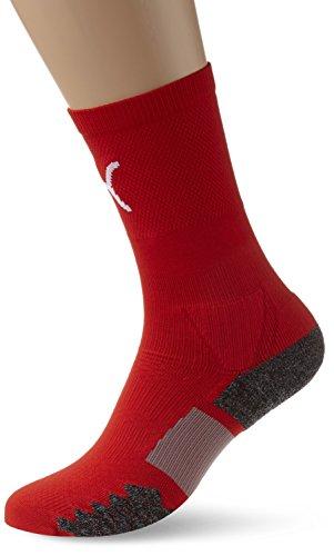 PUMA Erwachsene Socken Match Crew Socks, red-white, 3, 702660 01