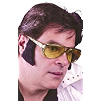 bb33692107c Mens 1950s Yellow Sun Glasses with Sideburns Music Celebrity Famous Person  Fancy Dress Costume Accessory