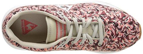 Le Coq Sportif Lcs R950 W Flower Jacquard Damen Sneaker Rot - Rouge (Ruby Wine/Gray Morn)
