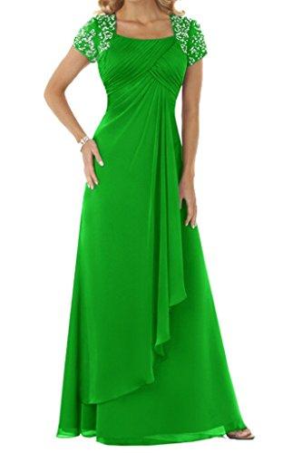 HUINI Damen Kleid Smaragdgrün