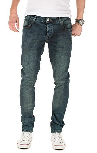 PITTMAN Herren Jeans 408 skinny fit (ggf. eine Nummer größer bestellen) Blau (Midnight Navy 194110)