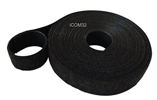Velcro® Marke Haken und Loop one-wrap ® Rückseite an Rückseite Umreifung in schwarz 1cm breit, schwarz, 2 m