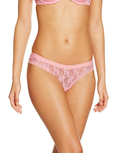 Iris & Lilly Damen String Soft Lace Rosa Small (Spitzen-string Rosa)