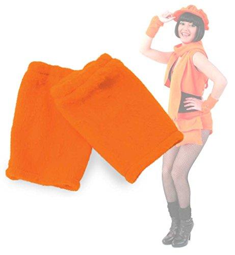 Pulswärmer, Armstulpen, für Erwachsene, erhältlich in Neon grün oder Neon orange, Armwärmer, Accessoire,ideal für Karneval (Neon Orange)