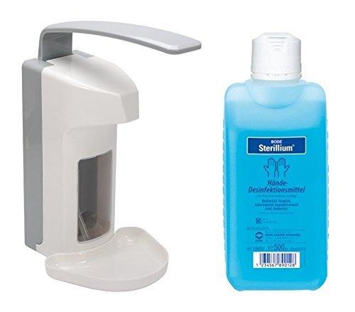 W-M-C Medical® 500 ml Wandspender Wandhalter + Sterillium (Spender+Sterillium) (1)
