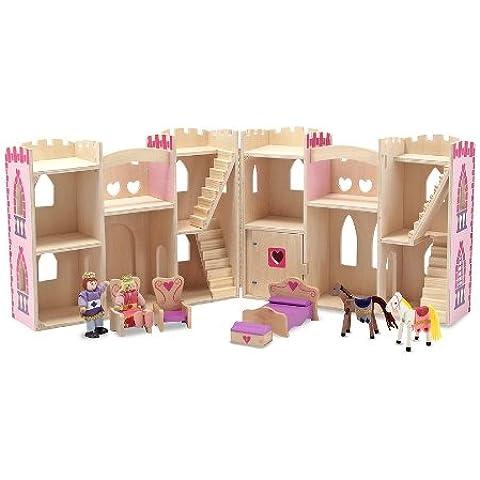 Melissa & Doug 13708 - Castillo de princesa plegable y portátil
