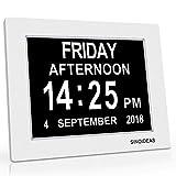 JJcall Memory Loss Day Clock Digital Calendar - Extra Large Non-Abbreviated Day
