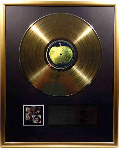 The Beatles - Let it be, goldene Schallplatte (gold record)