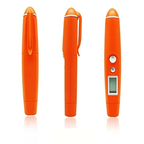 Gellvann DT 8250 Infrarot-IR-Thermometer-Taschen-Feder-Form tragbare Mini-Thermometer berührungsfreie Lebensmittel-Thermometer mit LCD-Anzeige, Bereich von -58 bis 482 ° F