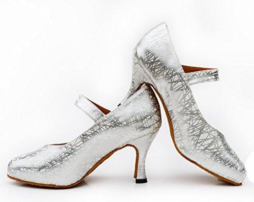 TDA ,  Damen Tanzschuhe Silber